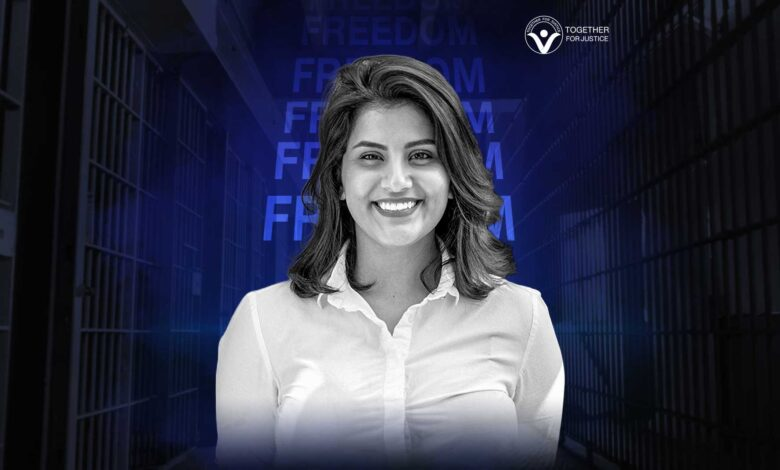 A farcical court sentenced Loujain Al-Hathloul to eight years and five months imprisonment