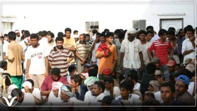 """صورة انتهاكات حقوق العمال.. السلطات السعودية تطرد العمال اليمنيين من منطقة """"جيزان"""""""