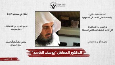 الحرية للدكتور السعودي يوسف القاسم