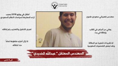الحرية للمهندس السعودي عبدالله الخديدي